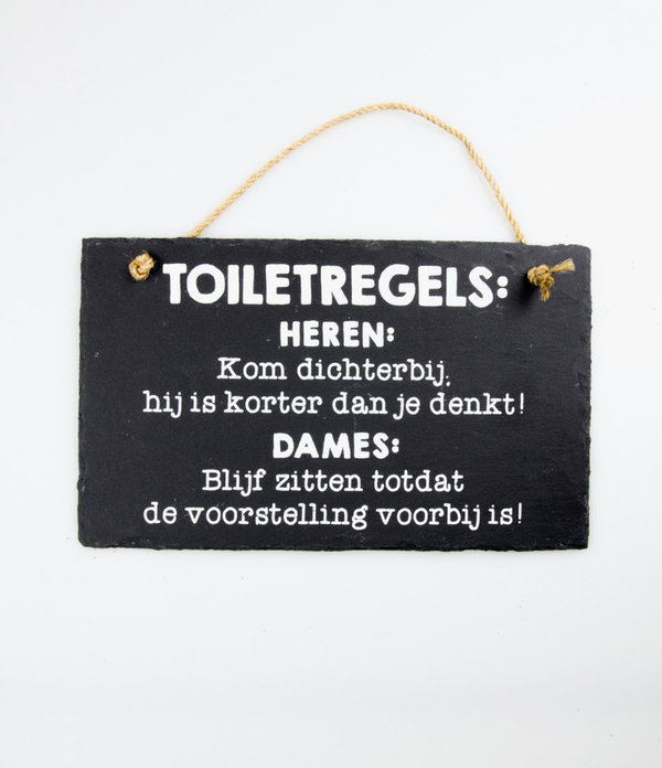 Leisteen Toilet regels