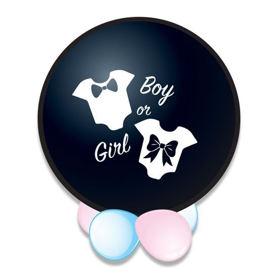 It's a boy confetti ballon (Ø61cm)