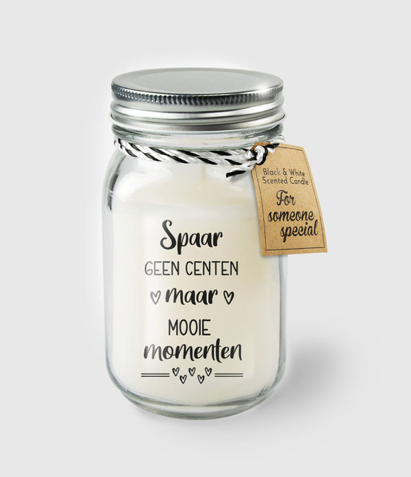 Black & White scented candles - Spaar geen centen
