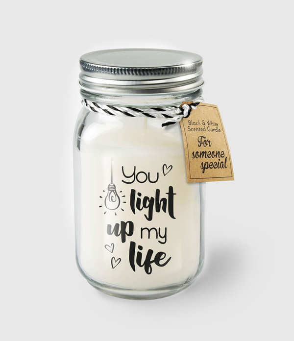 Black & White scented candles - Light up my life